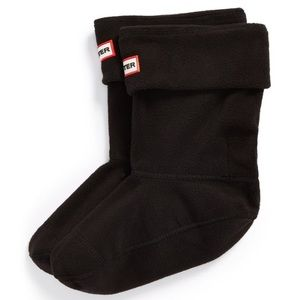 Hunter Short Fleece Welly Boot Socks in black